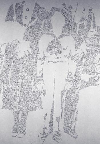 Carlo Gajani - Senza titolo, acrilico su tela 1977-79